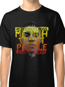 NUH TRUST PEOPLE #FREEWORLBOSS (YELLOW-RED) Classic T-Shirt