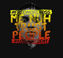 NUH TRUST PEOPLE #FREEWORLBOSS (YELLOW-RED) Long Sleeve T-Shirt