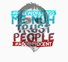 NUH TRUST PEOPLE #FREEWORLBOSS (RED-BLUE) Long Sleeve T-Shirt