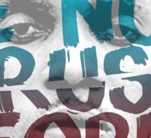 NUH TRUST PEOPLE #FREEWORLBOSS (RED-BLUE) Sticker