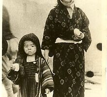 Woman and Child, Hiroshima 1945 by Estelle O'Brien