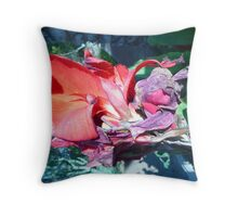 Decaying Beauty Throw Pillow