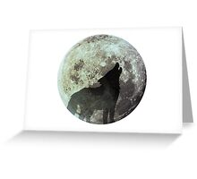 Wolf on the moon Greeting Card