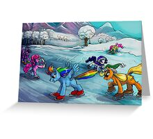 Ice skating MLP card! Greeting Card