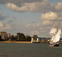 TS Royalist entering Poole Harbour by ArtByMikeW