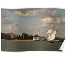 TS Royalist entering Poole Harbour Poster