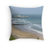 Bournemouth Pier, Dorset Throw Pillow
