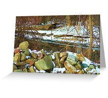Stone Cold Creek Bank Greeting Card