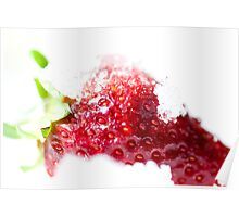 Iced Strawberry  Poster