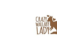 Crazy Wallaby lady (like a little kangaroo) by jazzydevil