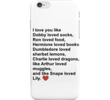 Harry Potter Love iPhone Case/Skin