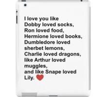 Harry Potter Love iPad Case/Skin