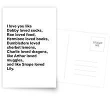 Harry Potter Love Greeting Card