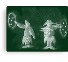 Arcaron baby: blackboard Occuria story 6 Canvas Print