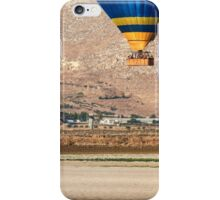 Hot air balloon photographed in the Jezreel Valley, Israel  iPhone Case/Skin