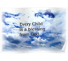 Childs Blessing Poster