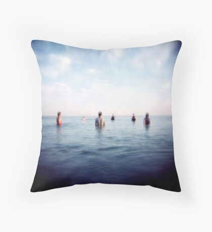 the guys out in sea Throw Pillow