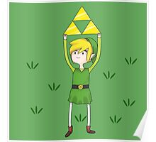 Triforce Link/Adventure Time Parody Mashup Poster