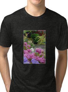A Stroll in my Cottage Garden Tri-blend T-Shirt