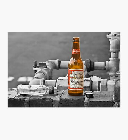 Black and White Beer Photographic Print