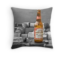 Black and White Beer Throw Pillow