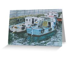 2 Quay Punts, Falmouth Greeting Card
