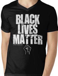 BLACK LIVES MATTER TOO Mens V-Neck T-Shirt
