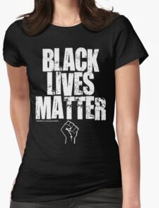 BLACK LIVES MATTER TOO Womens Fitted T-Shirt