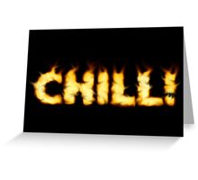 SOLD - SMOKIN' HOT TYPOGRAPHY Greeting Card