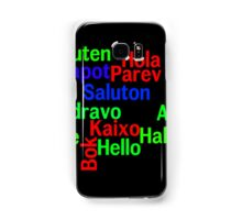 Hello in many languages Samsung Galaxy Case/Skin