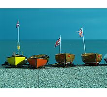 Four fishing boats Photographic Print