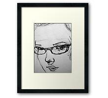 Self in pen Framed Print