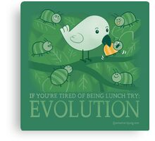 Try Evolution! Canvas Print