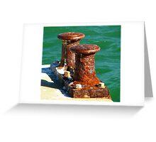 Rusted Bollards Greeting Card