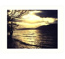 Gold and black - Loch Ness Art Print