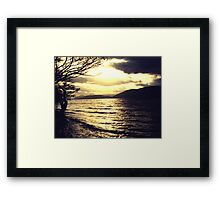 Gold and black - Loch Ness Framed Print