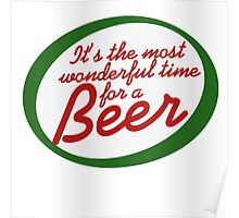 Most Wonderful Time for a Beer Poster