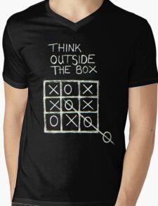 Think Outside The Box! Mens V-Neck T-Shirt