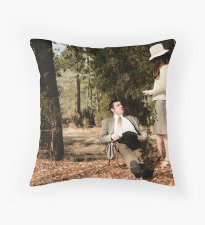 Bonnie and Clyde Shoot Throw Pillow