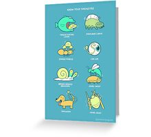 Know your parasites Greeting Card