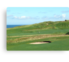 Golf Course on the North Norfolk coast at Sheringham Canvas Print
