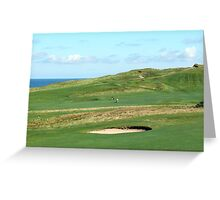 Golf Course on the North Norfolk coast at Sheringham Greeting Card