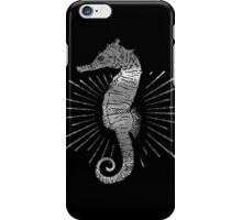 Seahorse with Good Vibes iPhone Case/Skin