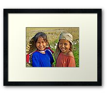 Happy Girls  Framed Print