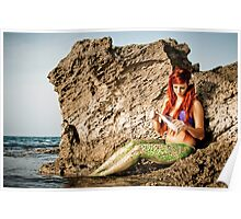 Mermaid sighting on the beach  Poster