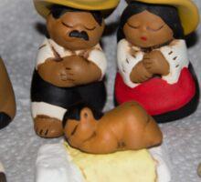 Latin Nativity Scene Sticker