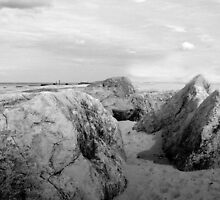 Rocks on the beach at Cart Gap Norfolk by johnny2sheds
