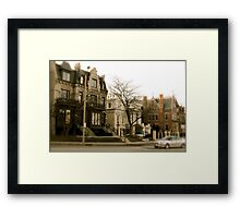 Milwaukee street Framed Print