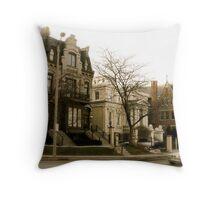 Milwaukee street Throw Pillow