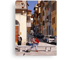 Lovers in Santa Croce Canvas Print